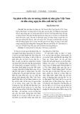 Sự phát triển của tư tưởng chính trị Nho giáo Việt Nam từ đầu công nguyên đến cuối thế kỷ XIV