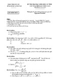 Kỳ thi học sinh giỏi cấp tỉnh môn Giải toán trên máy tính Casio (năm học 2015-2013)