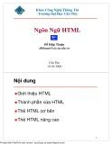 Bài giảng Ngôn ngữ HTML - Đỗ Hiệp Thuận
