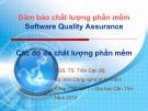 Bài giảng Đảm bảo chất lượng phần mềm: Chương 4 - PGS.TS. Trần Cao Đệ