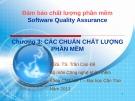Bài giảng Đảm bảo chất lượng phần mềm: Chương 3 - PGS.TS. Trần Cao Đệ