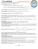Thử sức trước kỳ thi - Đề Toán số 06 năm 2013