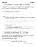 Chuyên đề Phương pháp Hàm Số - Sức mạnh trong bài toán chứa tham số - Nguyễn Thế Duy