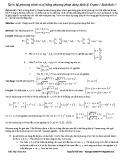 Chuyên đề Xử lý hệ phương trình vô tỷ bằng phương pháp dùng định lý Crame ( định thức )