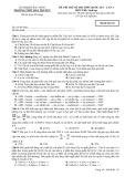 Đề thi thử kì thi THPT quốc gia, lần 3 có đáp án môn thi: Sinh học - Trường THPT Hàn Thuyên (Mã đề thi 132)