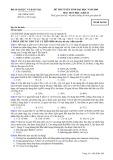 Đề thi tuyển sinh đại học năm 2009 môn: Hoá học, khối B - Mã đề thi 269