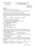 Đề thi tuyển sinh đại học năm 2009 môn: Hoá học, khối B - Mã đề thi 475