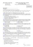 Đề thi tuyển sinh đại học năm 2009 môn: Hoá học, khối B - Mã đề thi 852