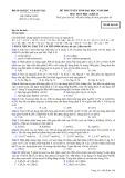 Đề thi tuyển sinh đại học năm 2009 môn: Hoá học, khối B - Mã đề thi 148