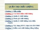Bài giảng Quản trị chất lượng: Chương 2