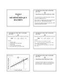Bài giảng Chương 2: Mô hình hồi quy hai biến