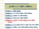 Bài giảng Quản trị chất lượng: Chương 5 - Quản lý chất lượng toàn diện