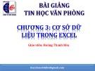 Bài giảng Tin học văn phòng: Chương 3 - Hoàng Thanh Hòa