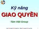 Bài giảng Kỹ năng giao quyền (Tâm Việt)