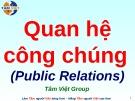 Bài giảng Quan hệ công chúng - Public Relations
