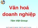 Bài giảng Văn hóa doanh nghiệp (Tâm Việt)