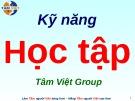 Bài giảng Kỹ năng học tập (Tâm Việt)