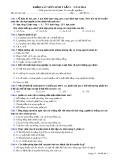 Đề thi khảo sát lần 1 năm 2014 môn: Sinh học 9 - Mã đề 04