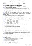 Đề thi khảo sát lần 1 năm 2014 môn: Sinh học 9 - Mã đề 02