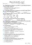 Đề thi khảo sát lần 1 năm 2014 môn: Sinh học 9 - Mã đề 03