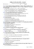 Đề thi khảo sát lần 1 năm 2014 môn: Sinh học 9 - Mã đề 01