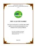 Tiểu luận tốt nghiệp: Ứng dụng GIS đánh giá xu hướng phát triển không gian đô thị thành phố Kon Tum, tỉnh Kon Tum giai đoạn 2000-2010