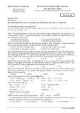 Đề thi tuyển sinh đại học năm 2014 môn: Hóa học, khối B - Mã đề thi 683