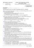 Đề thi tuyển sinh đại học năm 2014 môn: Sinh học, khối B - Mã đề thi 169