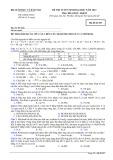 Đề thi tuyển sinh đại học năm 2014 môn: Hóa học, khối B - Mã đề thi 527