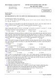 Đề thi tuyển sinh đại học năm 2014 môn: Hóa học, khối B - Mã đề thi 285