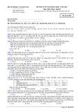 Đề thi tuyển sinh đại học năm 2014 môn: Hóa học, khối B - Mã đề thi 853