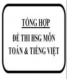 Tổng hợp đề thi học sinh giỏi lớp 5 môn: Toán, Tiếng Việt