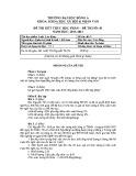 Đề thi kết thúc học phần Luật lao động (năm học 2011-2012): Đề số 1