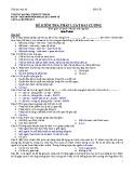 Đề kiểm tra Pháp luật đại cương: Đế số 2