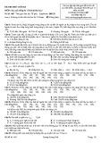 Đề thi thử cuối kỳ môn Xác suất thống kê (trình độ đại học): Mã đề 485