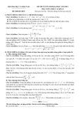 Đề thi tuyển sinh đại học môn Toán (năm 2012): Khối A và A1
