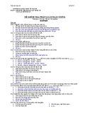 Đề kiểm tra Pháp luật đại cương: Đề số 1