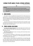 Bài giảng Viêm phổi mắc phải cộng đồng - TS. BS. Nguyễn Hữu Lân