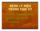 Bài giảng Bệnh lý niệu trong thai kỳ - BS. Nguyễn Anh Danh