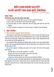 Bài giảng Rối loạn kinh nguyệt xuất huyết âm đạo bất thường - BS. CKII. Lê Thị Minh Nguyệt
