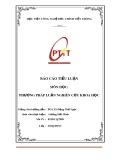 Báo cáo tiểu luận: Thẻ điểm cân bằng và ứng dụng của thẻ điểm cân bằng HV Công nghệ Bưu Chính Viễn Thông