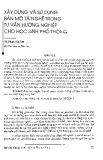 Xây dựng và sử dụng bản mô tả nghề trong tư vấn hướng nghiệp cho học sinh phổ thông - TS. Phạm Văn Sơn