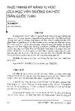 Thực trạng kỹ năng tự học của học viên Trường Đại học Trần Quốc Tuấn - Tạ Quang Đàm