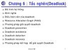 Bài giảng Hệ điều hành: Chương 6 - ThS. Hà Lê Hoài Trung