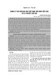 Quản lý thư viện đại học Việt Nam: Mô hình tiếp cận từ lý thuyết thể chế