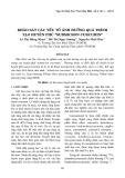 """Khảo sát các yếu tố ảnh hưởng quá trình tạo huyền phù """"Submicron Curcumin"""""""