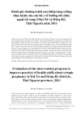 Đánh giá chương trình can thiệp tăng cường thực hành của cán bộ y tế hướng tới chửa ngoài tử cung ở Đại Từ và Đồng Hỷ, Thái Nguyên năm 2011