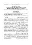 Biến đổi từ ngữ về quyền con người, quyền công dân trong các bản hiến pháp ở Việt Nam