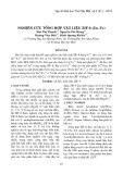 Nghiên cứu tổng hợp vật liệu ZIF-8 (Zn, Fe)