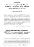 Các rào cản trong thực hiện Thông tư 16/2009/BYT về sàng lọc, hỗ trợ nạn nhân bạo lực gia đình tại Việt Nam